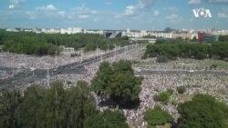 白俄羅斯反對派示威浪潮持續 總統支持者首次集會