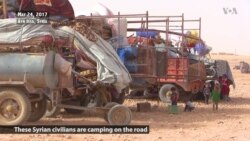 Displaced Raqqa Civilians Camp on Roadsides