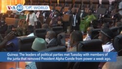 VOA60 World- Guinean political leaders met Tuesday with members of the junta