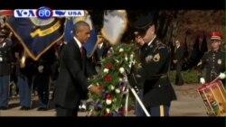 TT Obama đặt vòng hoa nhân ngày Cựu Chiến binh (VOA60)