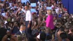 US Obama Clinton Rally