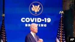 President-elect Joe Biden speaks at The Queen theater, in Wilmington, Del., Dec. 29, 2020.