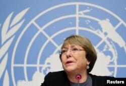 미첼 바첼레트 유엔 인권최고대표.