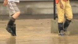 日本东北部特大暴雨引发泥石流