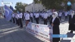 Uygurlar İstanbul'da Çin'i Protesto Etti