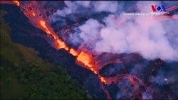 Hawaii'de Lavlar İlk Kez Bir Kişiyi Ağır Yaraladı