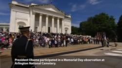 Obama Marks Memorial Day at Arlington National Cemetary