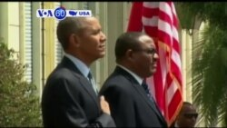 VOA60 America- President Barack Obama became the first serving American president to visit Ethiopia arriving in Addis Ababa- July 27, 2015