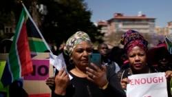 Manifestation de réfugiés contre les violences xénophobes en Afrique du Sud