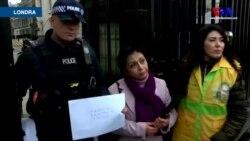 Londra'dan İran Protestocularına Destek