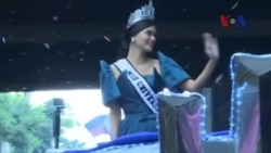 Hoa hậu Hoàn vũ 2015 được chào đón như người hùng ở Philippines