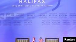 Logo Forum Halifax di Halifax, Nova Scotia, Kanada, 22 November 2013.(Foto: arsip)