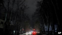 خیابانی خاموش در تهران - ژانویه ۲۰۲۱