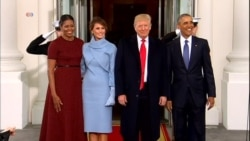 President Obama greets President-elect Trump