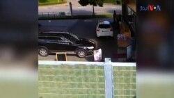 گاڑی کنٹرول سے باہر ہو کر دکان پر چڑھ دوڑی