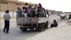 Syrians Flee IS Advance in Hasaka