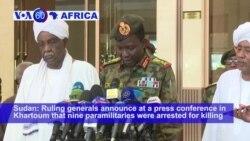 VOA60 Africa - Talks on Sudan's Gov't Continue Despite Latest Protester Deaths