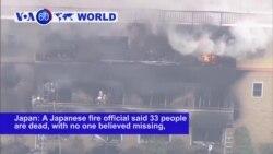 VOA60 World - Man Screams 'You Die,' Sets Japan Animation Studio on Fire