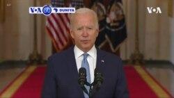 VOA60 DUNIYA: Shugaba Amurka Joe Biden, Ya Kare Matakin Da Ya Dauka Na Kawo Karshen Yakin Shekaru Ashirin Da Kasar Ta Yi A Afghanistan