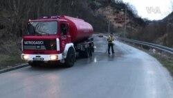 Vatrogasci DVD Vratnik dezinfikuju ulice Sarajeva