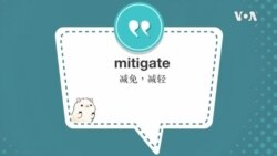 学个词 --mitigate