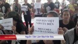 Giáo dân Nghệ An tuần hành đòi minh bạch thông tin vụ cá chết