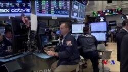 全球股市連跌之後美股星期五上揚 (粵語)