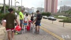 香港超级台风破坏力强 周一没停工惹民愤