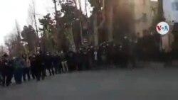 Protestas de estudiantes en Teherán