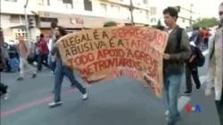 2014-06-10 美國之音視頻新聞: 世界盃舉行前夕巴西地鐵暫停罷工