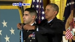 VOA60 America - President Obama awarded the Medal of Honor to retired U.S. Army Captain Florent Groberg