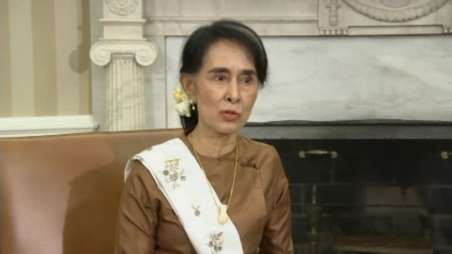 Image result for PHOTOS OF BOB CORKER AND Aung San Suu Kyi.