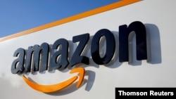 電商亞馬遜(Amazon.com)商標。(路透社/Thomson)