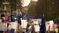 Londonda təkrar Brexit referendumun keçirilməsi tələbi ilə nümayiş keçirilib