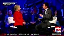 2016-01-26 美國之音視頻新聞: 希拉里克林頓強調優先採用外交途徑