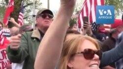 A Boston, des Américains manifestent contre le confinement