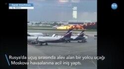 Yolcu Uçağı Alevler İçinde Acil İniş Yaptı