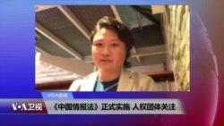 VOA连线:《中国情报法》正式实施 人权团体关注