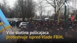 Policija protestvovala pred Vladom FBiH, sutra novi protesti