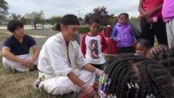 Korean Immigrant Brings Positive Energy to Homeless Kids