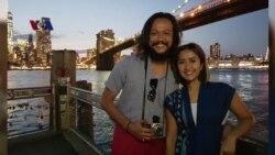 Pasangan Selebritis Dwi Sasono dan Widi Be3 Explore New York City