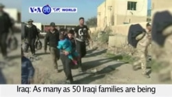 VOA60 World - 50 Iraqi families transported from Ramadi