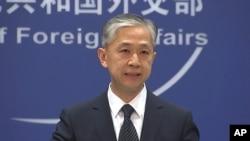 왕원빈 중국 외교부 대변인이 지난 11일 베이징에서 정례브리핑을 했다.