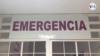 """Letrero de """"Emergencia"""" en un hospital en Caracas, Venezuela. Foto: Captura de video."""
