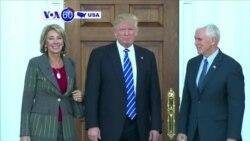 Manchetes Americanas 24 Novembro: Bilionária republicana Betsy DeVos ministra da educação