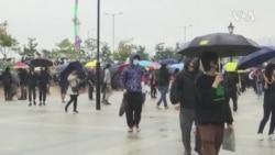 上千香港市民雨中繼續抗議 (粵語)