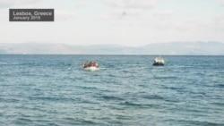 Refugees Arrive at Lesbos