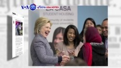VOA60 Elections - NYT: Hillary Clinton has begun her final sprint toward the nomination in Ohio