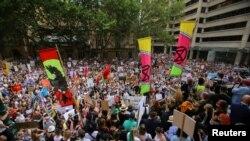 Biểu tình chống biến đổi khí hậu tại Sydney, Australia, ngày 10/1/2020.