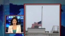 VOA连线: 白宫降半旗 奥巴马称波士顿爆炸是恐怖行动;美国驻北京大使馆发表声明哀悼中国受害者